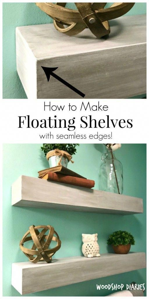 How to Build Seamless Floating Shelves --{In Just 5 Steps!}
