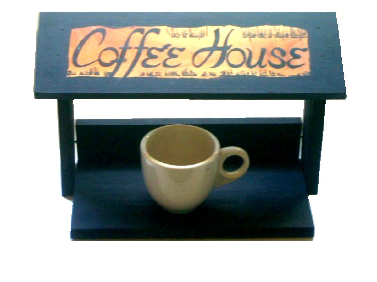 Coffee Bar Storage Box Coffee House Decoration Store your favorite coffee cups, creamer and sugar bowl, packets, or just a stand alone item for your coffee bar. $21.95