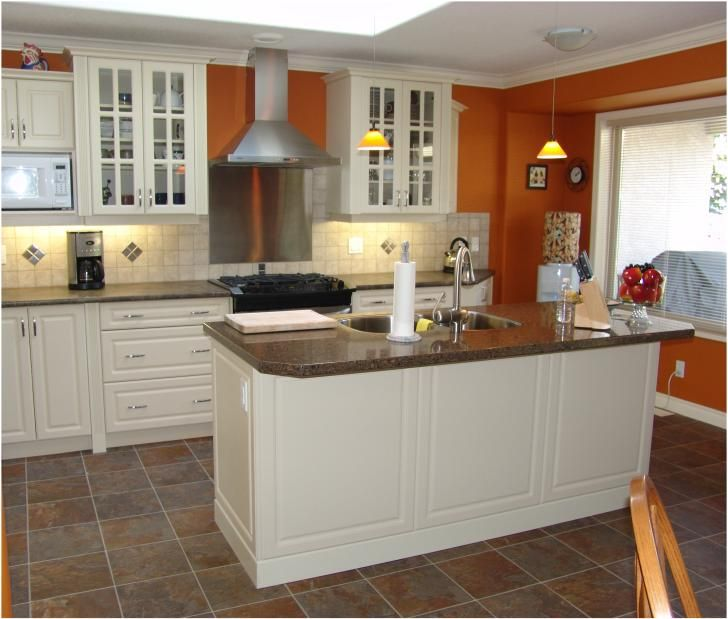 What Color To Paint Kitchen Walls: This Orange Is Kind Of Neat (maybe A Little Lighter In Our