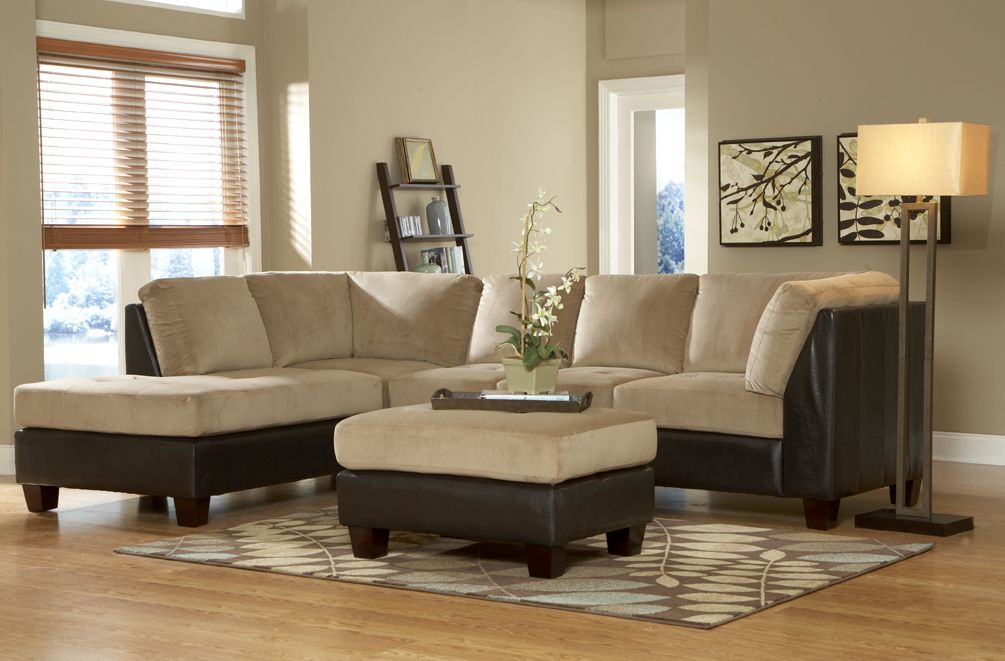 Homelegance 9838br royce brown sectional sofa living room for Home decorators royce