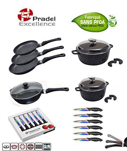 Pradel Excellence Batterie De Cuisine 15 Pieces 3 Poeles 2