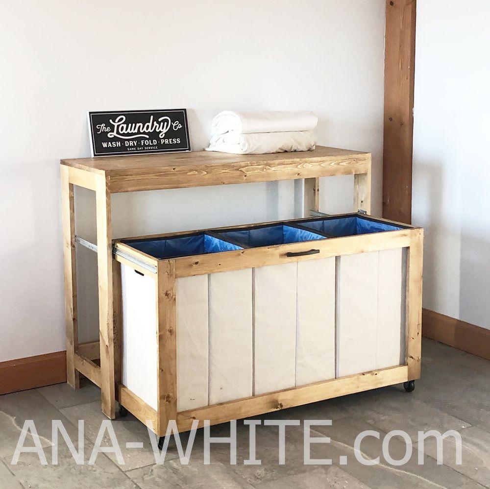 Laundry Station | Ana White #anawhite