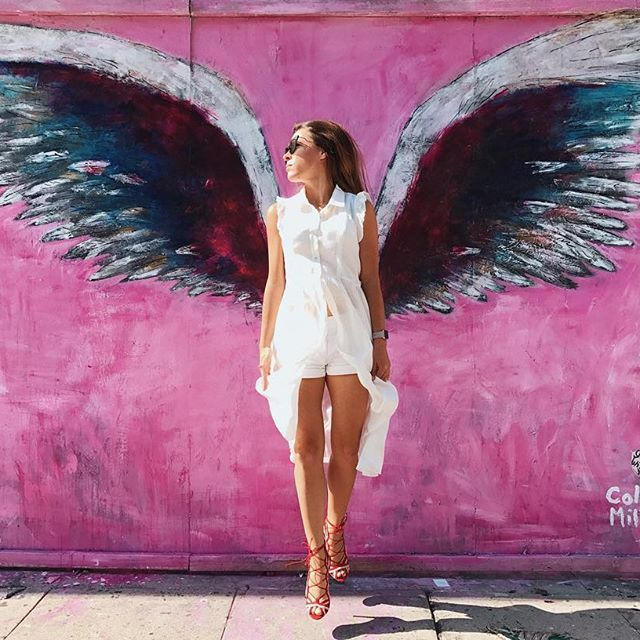 537827414c Colette Miller created the Global Angel Wings Project in the streets of Los  Angeles