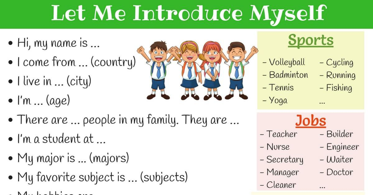 How To Introduce Yourself In English With Images How To