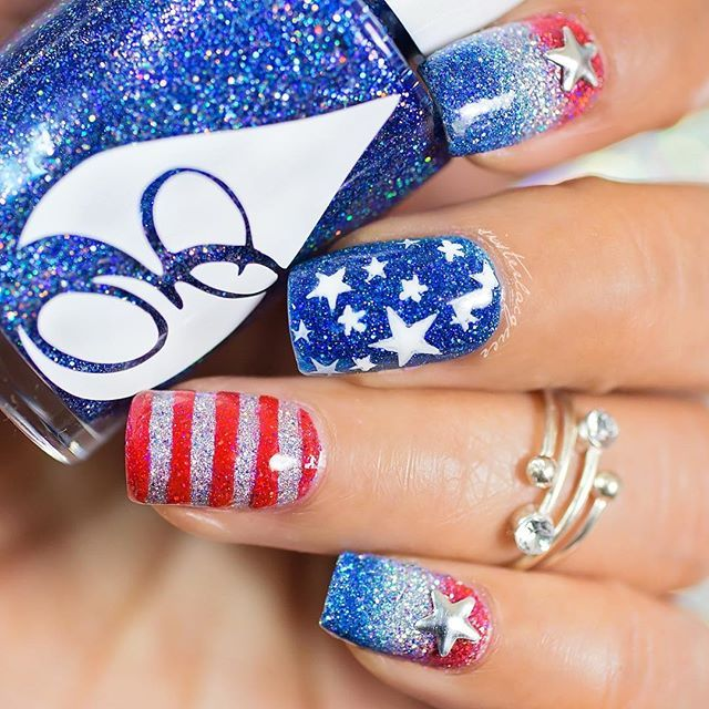 sisterlacquer | 4th of July Nail Art Gallery, check it out at http ...