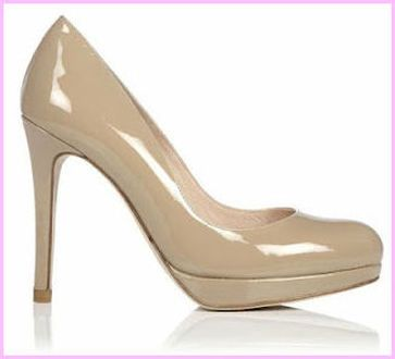 For the L.K. Bennett Sledge Taupe Patent Pumps | Girly