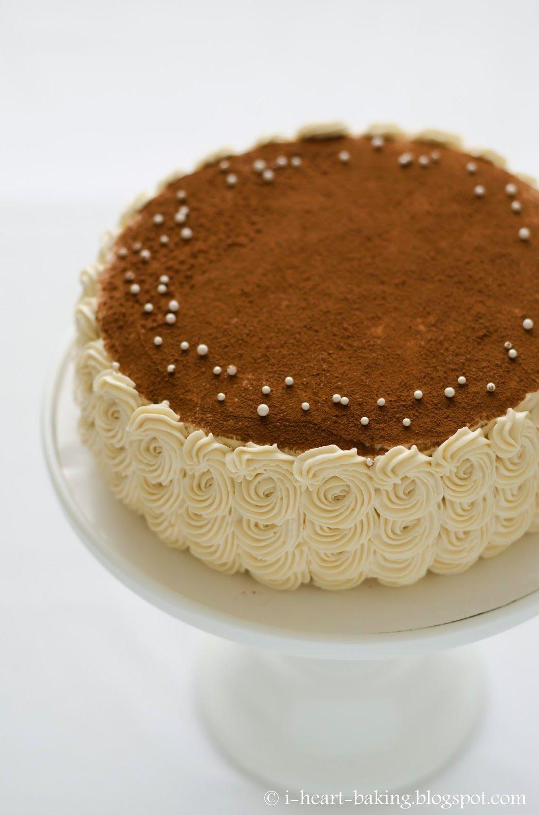i heart baking tiramisu birthday cake with piped swirl ruffle sid