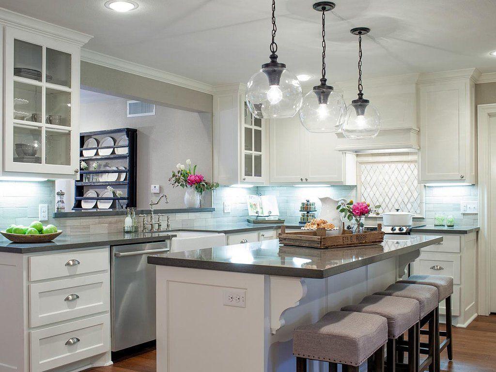 The Prettiest Farmhouse Kitchen Makeovers on Fixer Upper | Fixer ...