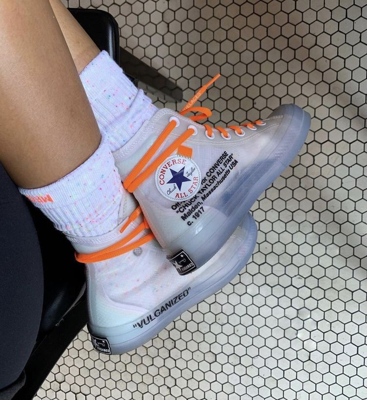 off-white x converse with orange laces