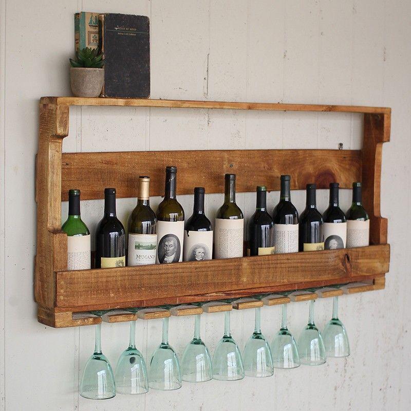 C mo hacer un mueble para vinos con pallets c mo hacer - Muebles para poner botellas de vino ...