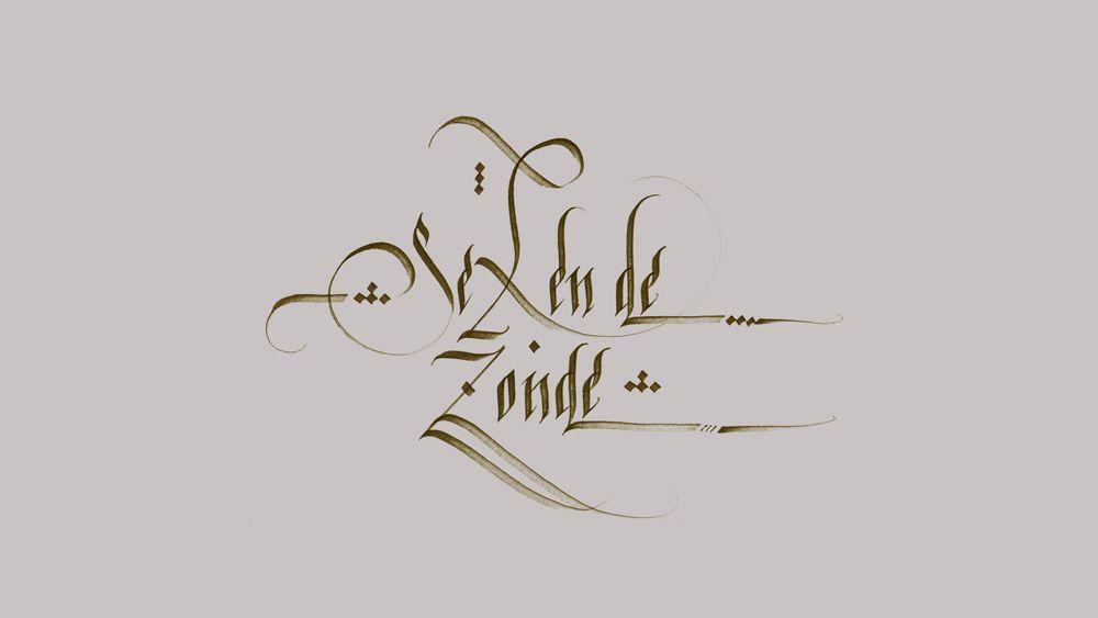 Sex en de Zonde, Calligraphy