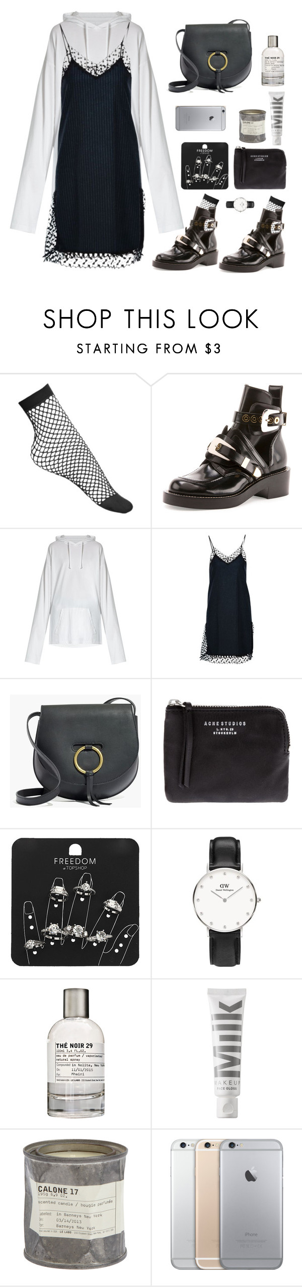 """""""long"""" by millicent4 ❤ liked on Polyvore featuring Balenciaga, Vetements, Erika Cavallini Semi-Couture, Madewell, Acne Studios, Topshop, Le Labo and MILK MAKEUP"""