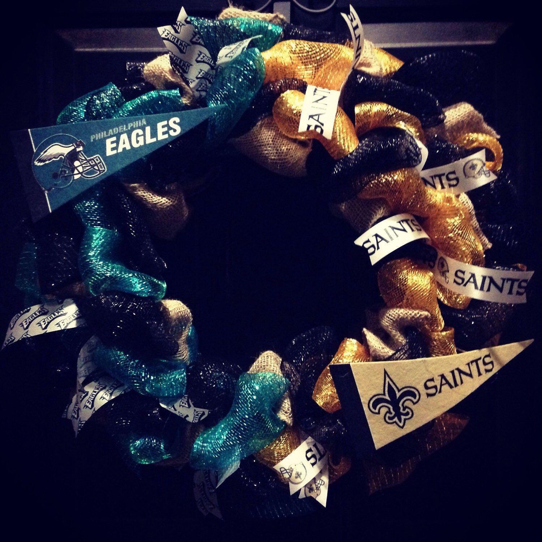 Custom made NFL House Divided wreath Philadelphia Eagles