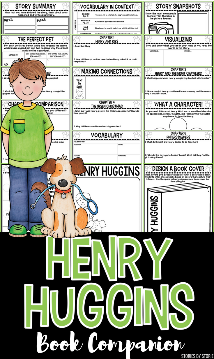 This Book Companion For Henry Huggins By Beverly Cleary Contains Comprehension Questions For Each Chapter Of The Book Activities Student Reading Henry Huggins [ 1232 x 735 Pixel ]