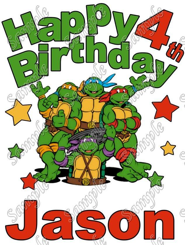 Birthday Teenage Mutant Ninja Turtles TMNT Personalized Custom T