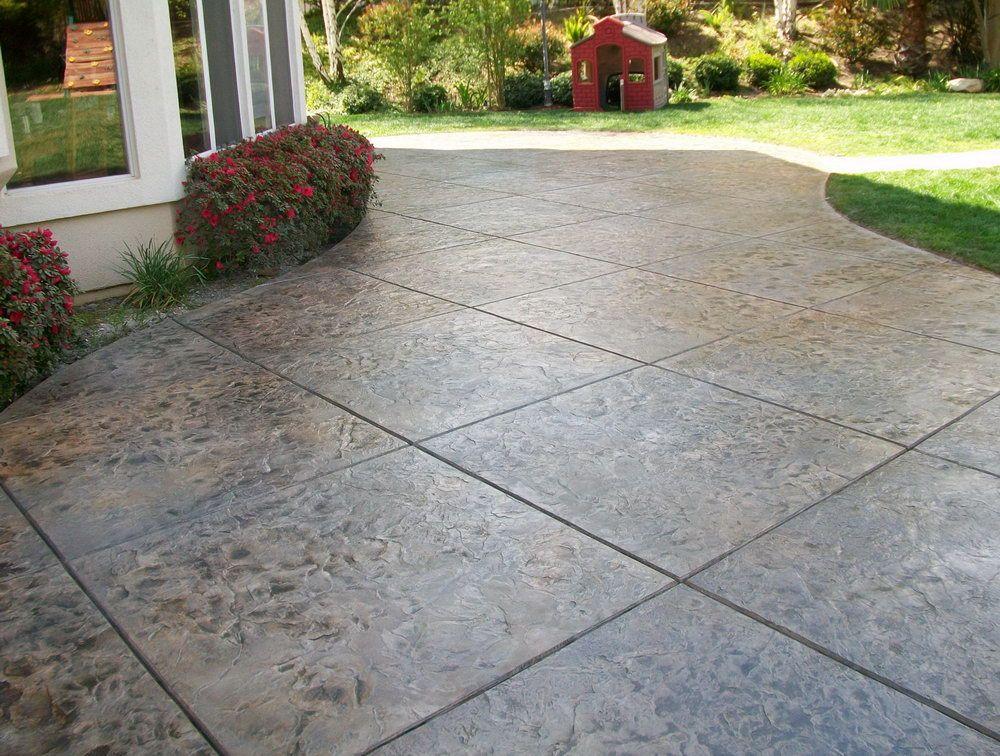 Stamped Concrete Patio Pavers Cost Intsallation Price Concrete