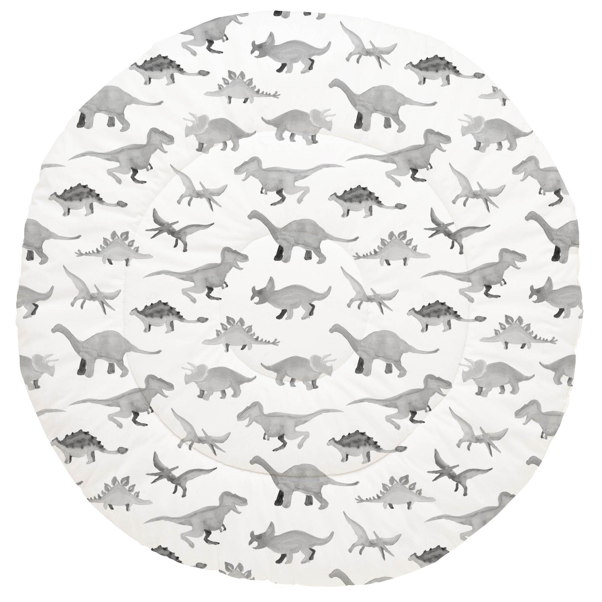 Gray Watercolor Dinosaurs Baby Play Mat In 2020 Baby Play Mat Baby Play Play Mat