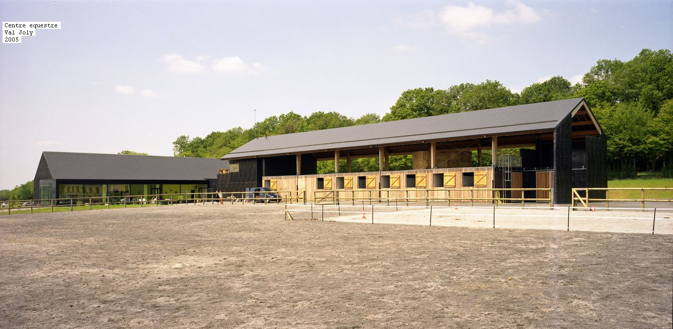 Equestrian Centre At Val Joly France By Saison Menu Architects Note The Hay