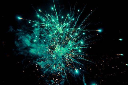 turquoise fireworks | fireworks | aqua, green, blue ...