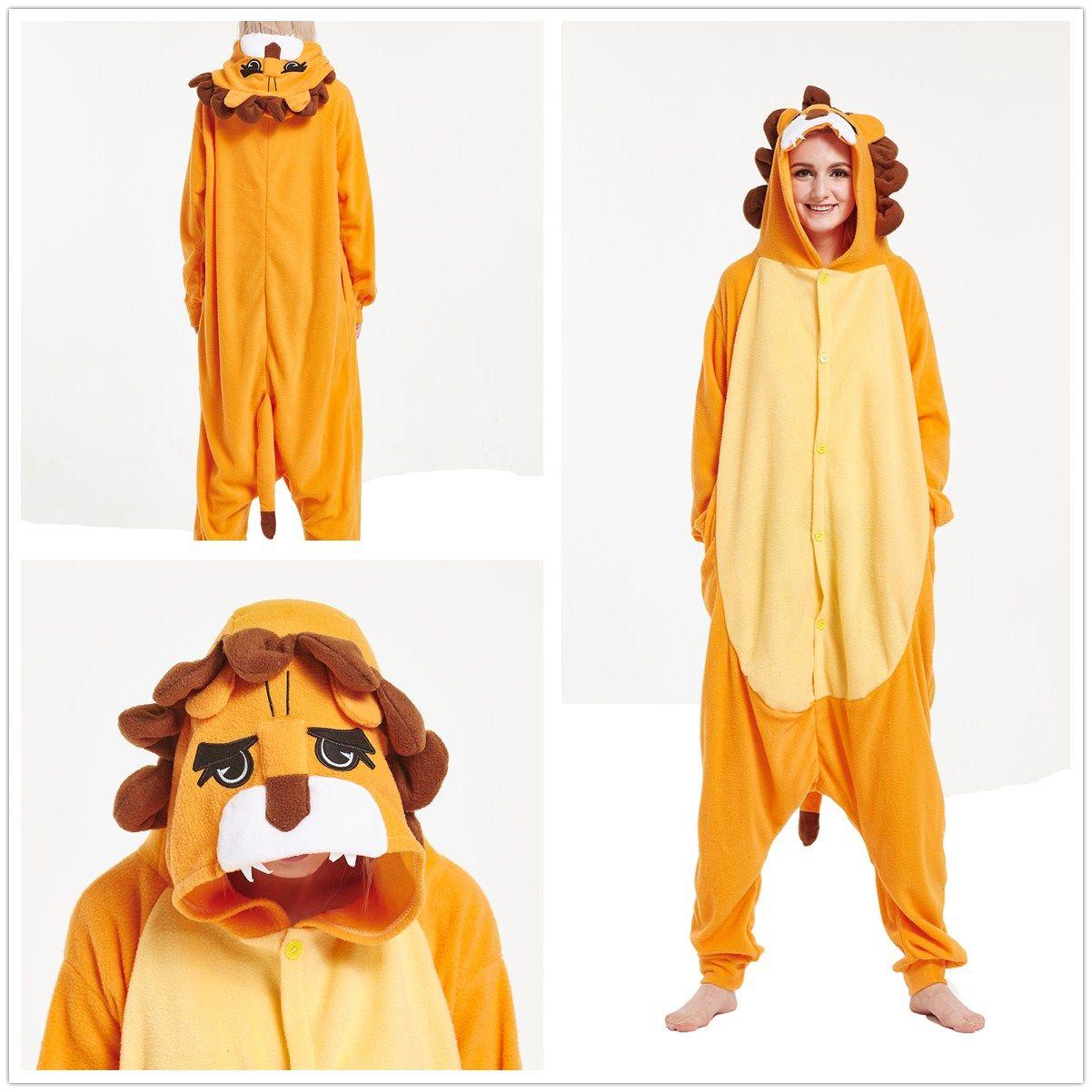 c4f11f173789 Lion Kigurumi Onesie For Adult Pajama Costume