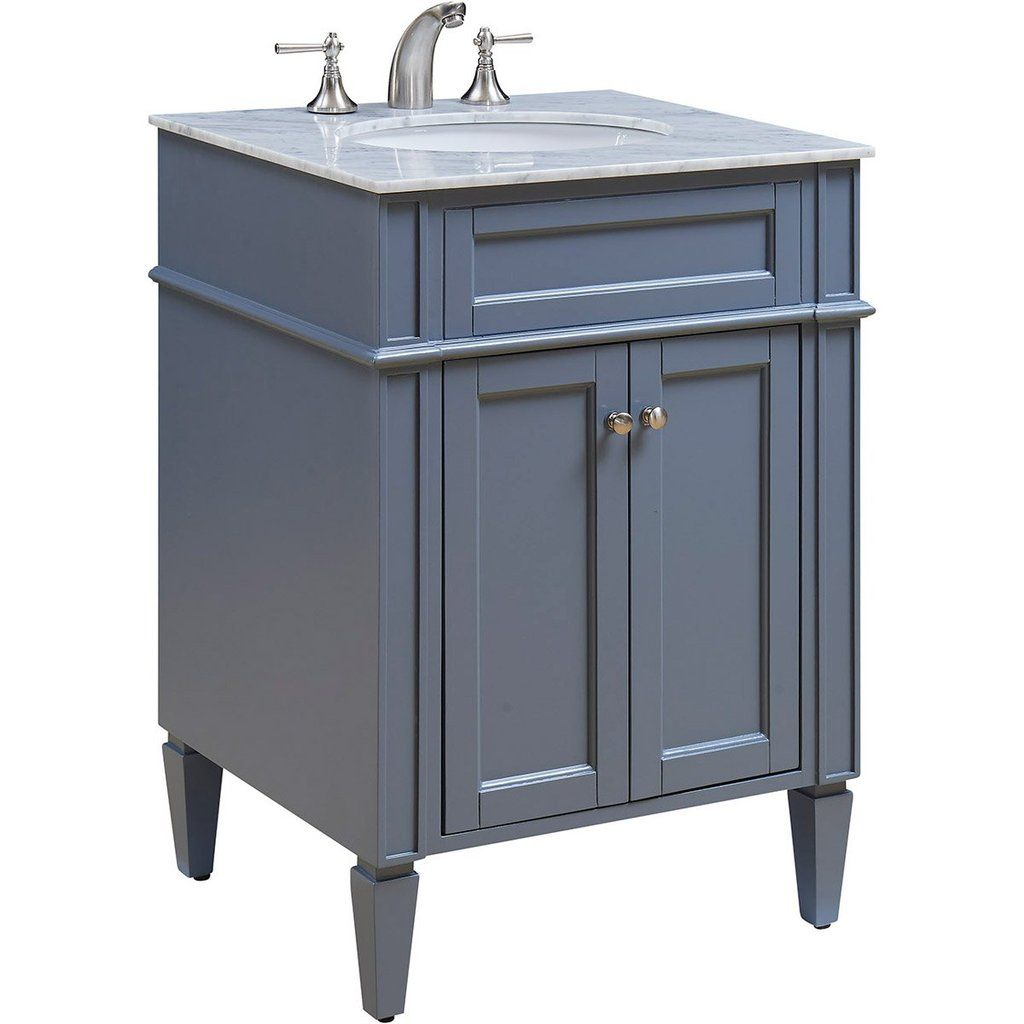 Park Ave 24 X 35 2 Door Vanity Cabinet Grey Finish Vf 1027 With Images Single Bathroom Vanity Bathroom Vanity Vanity Set