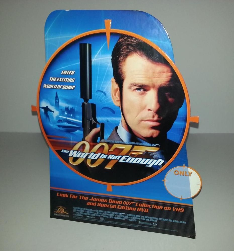James Bond The World Is Not Enough Promo Vhs Dvd Table Top Standee
