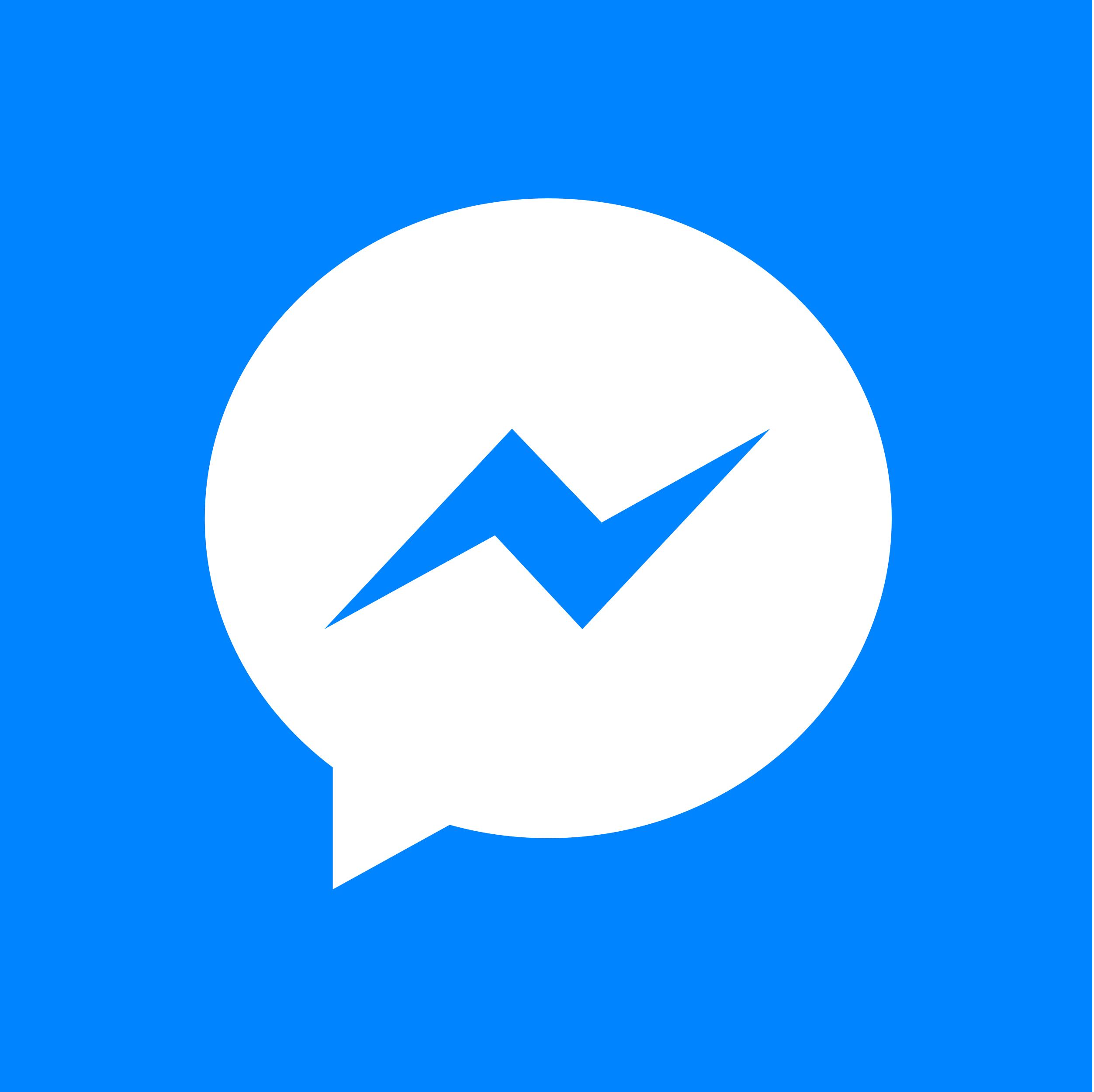 Facebook Messenger white 8logos in 2020 Facebook