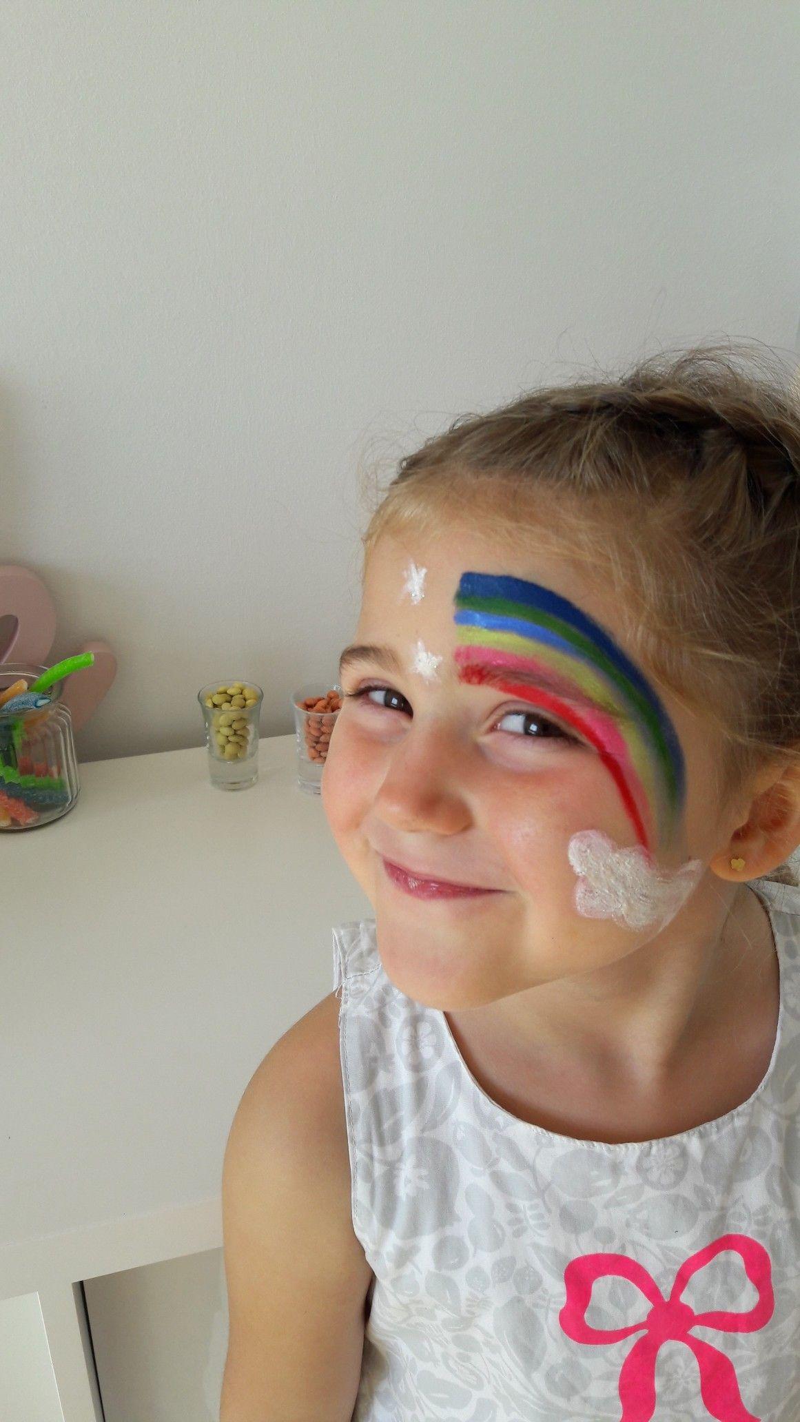 maquillage arc en ciel diy maquillage enfant anniversaire arcenciel licorne multicolore. Black Bedroom Furniture Sets. Home Design Ideas