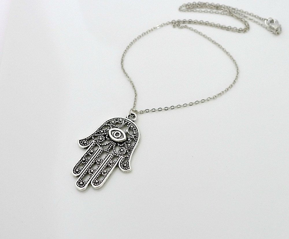 hand hamsa jewellery products necklace dollie