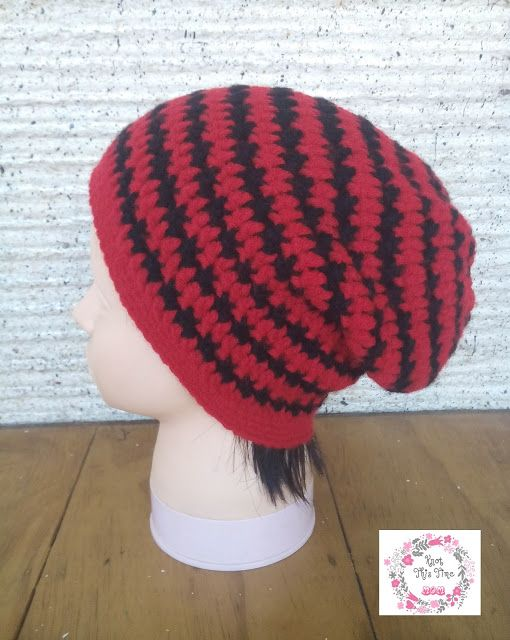 Cross \'X\' Stitch Slouch Hat - free crochet pattern by Lanie at Knot ...
