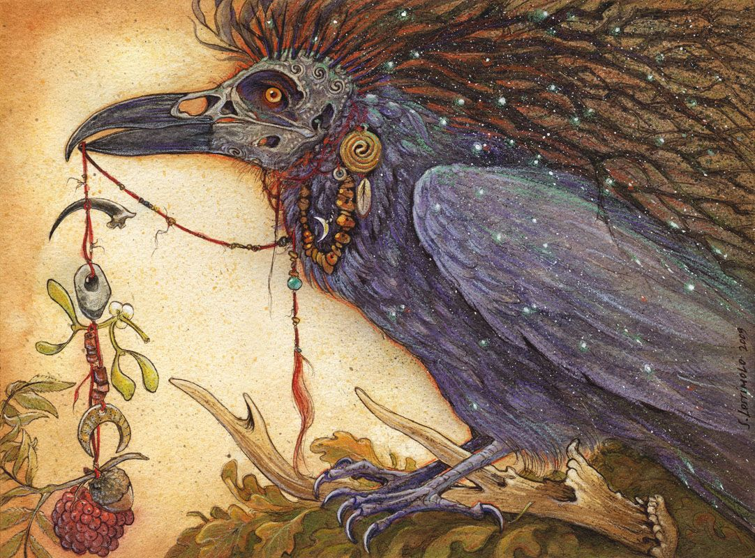 Сказочные картинки ворон