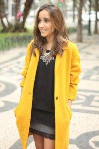 Amarillo Abrigo Amarillo Moda Y Abrigos wBAgXqf