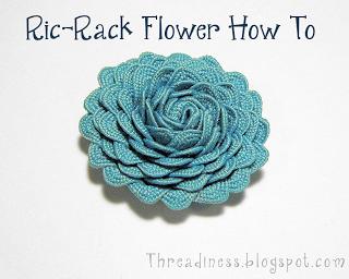 Ric Rack Flower or Rosette How To