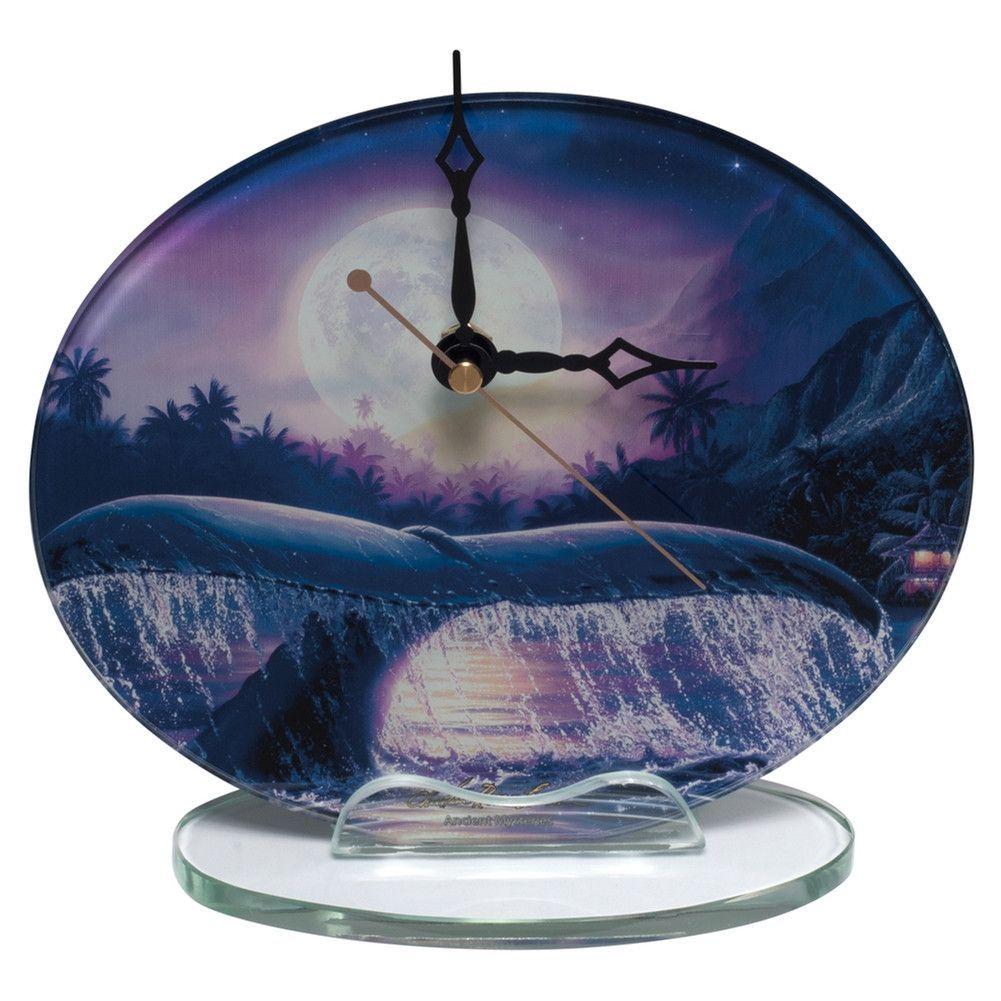 Whale Breaching In Moonlight Clock