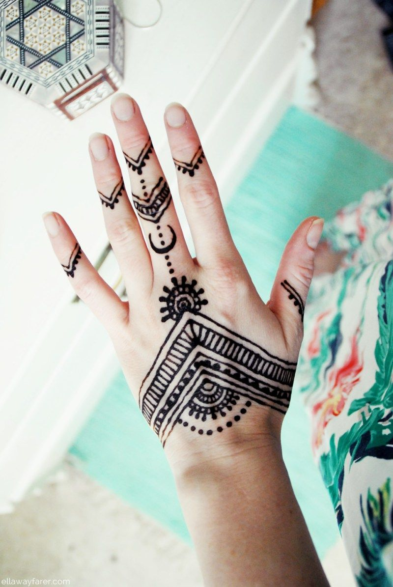 Simple Henna Tattoo Designs For Wrist: Henna Tattoo Auf Der Hand