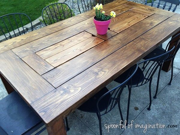 38 Easy DIY Patio Tables You Can Build on a Budget | Wood ...