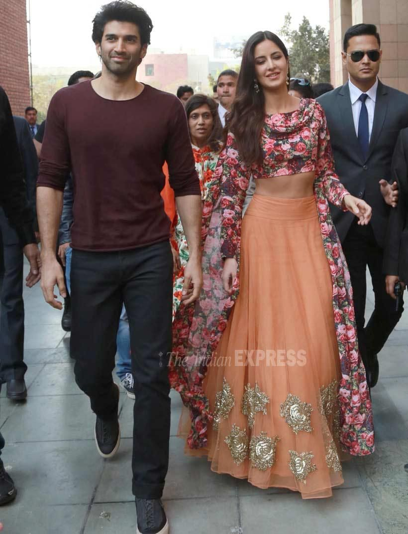 Katrina Kaif Aditya Roy Kapoor Romance Each Other In Delhi