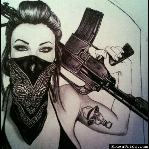 Image Result For Gangster White Girl Sketches Sickkk Asf