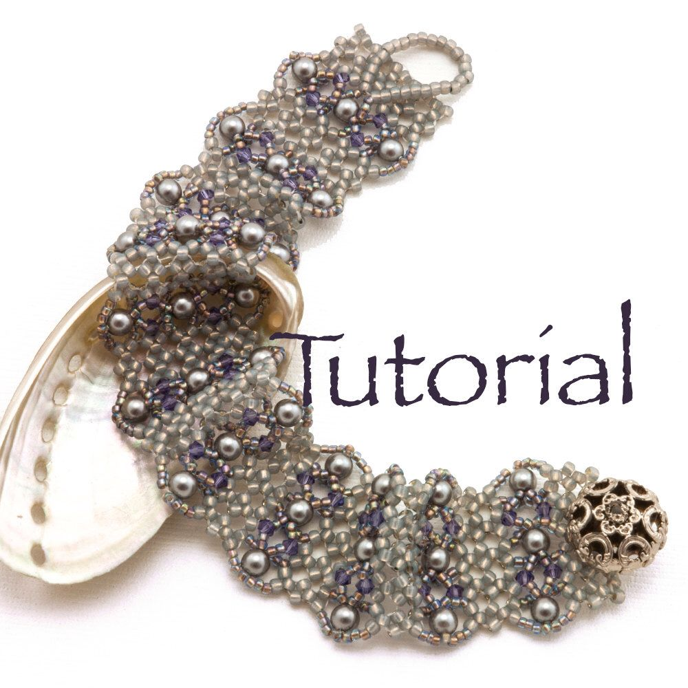 Hubble Stitch Seed Bead Bracelet Tutorial Mermaid with crystals and pearls di JewelryTales su Etsy https://www.etsy.com/it/listing/247073047/hubble-stitch-seed-bead-bracelet