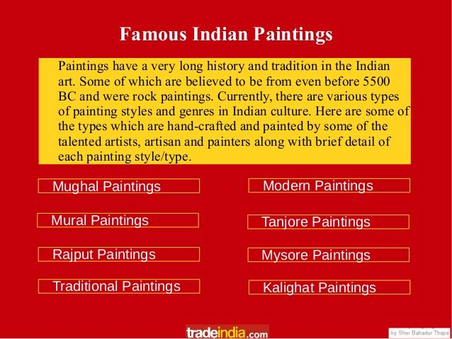 famous indian paintings by maddy via slideshare art design by