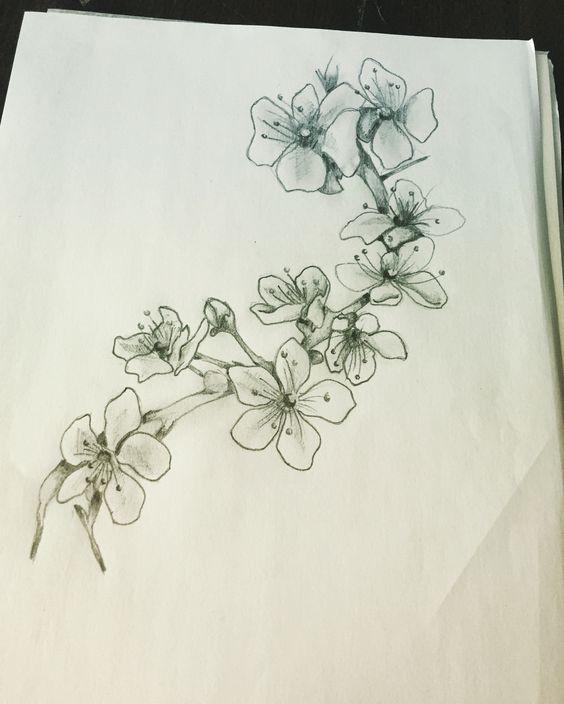 Cherry Blossom Tattoo Blossom Tattoo Cherry Blossom Tattoo Black And White Flower Tattoo