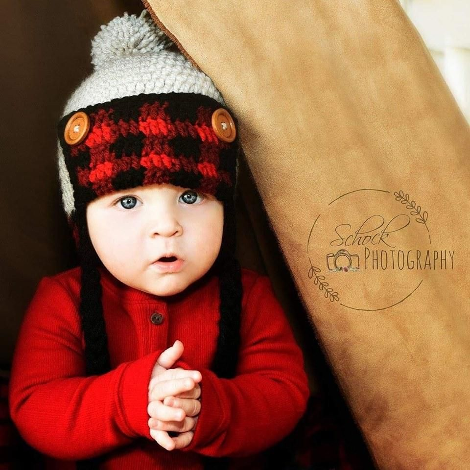 430426fab Crochet Lumberjack Plaid Beanie Hat Newborn Infant Baby Toddler Child Adult  Handmade Baby Shower Gift