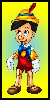 ...draw Pinocchio