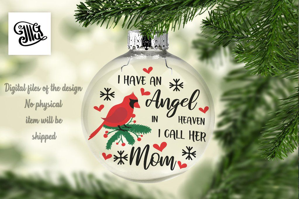 I have an angel in heaven. I call her mom svg, Memorial