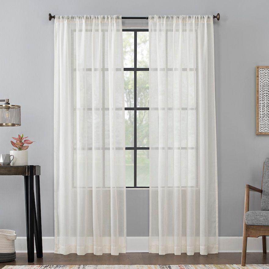 Scott Living 1 Panel Celeste Textured Sheer Window Curtain In 2020