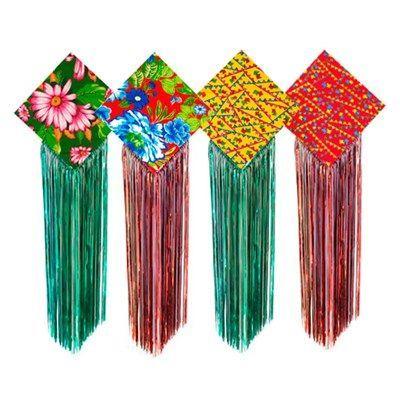 Pipa Decoração Festa Junina em Tecido de Chita