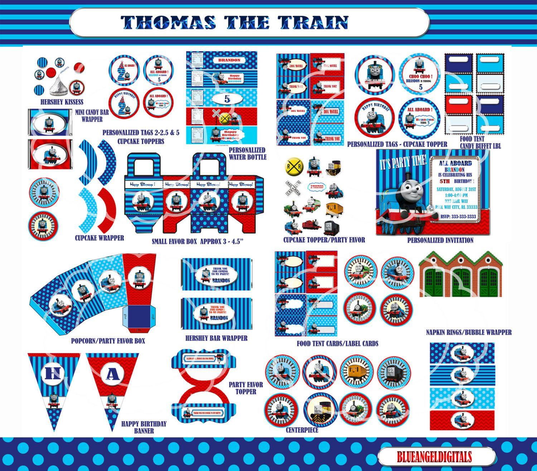 Thomas The Train Party Thomas The Train By Blueangeldigitals 21 99