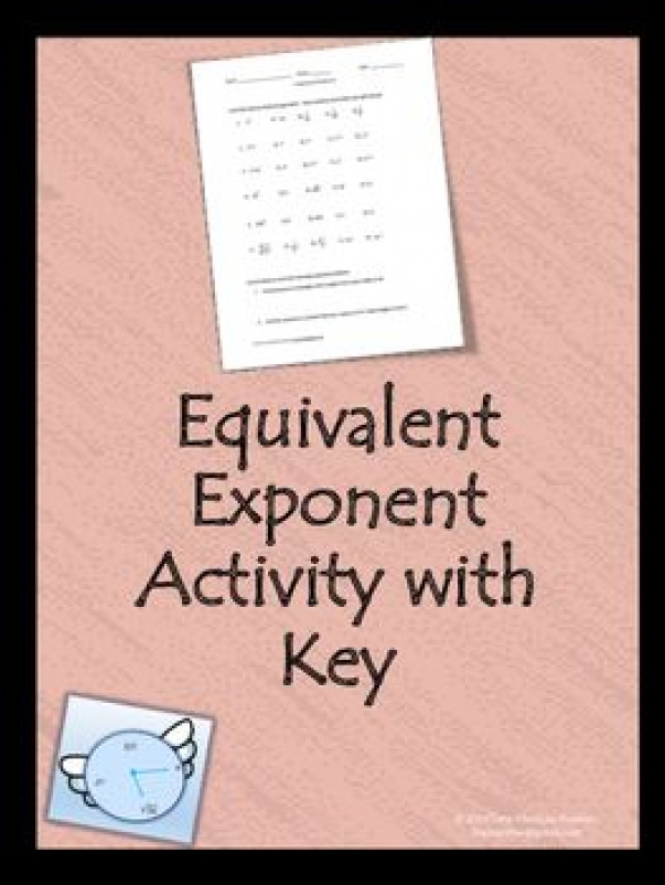 An activity or quiz that will assess if the students can match equivalent exponents. More than one right answer for some questions. This raises the difficulty level. To me this is an awesome activity because if students understand that answers can be written in multiple ways then they have a deeper understanding of the topic.   education level quiz #educationlevel #education #level #student
