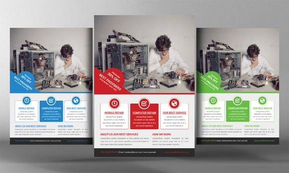 Computer Repair Flyer Template By Business Templates On Creative