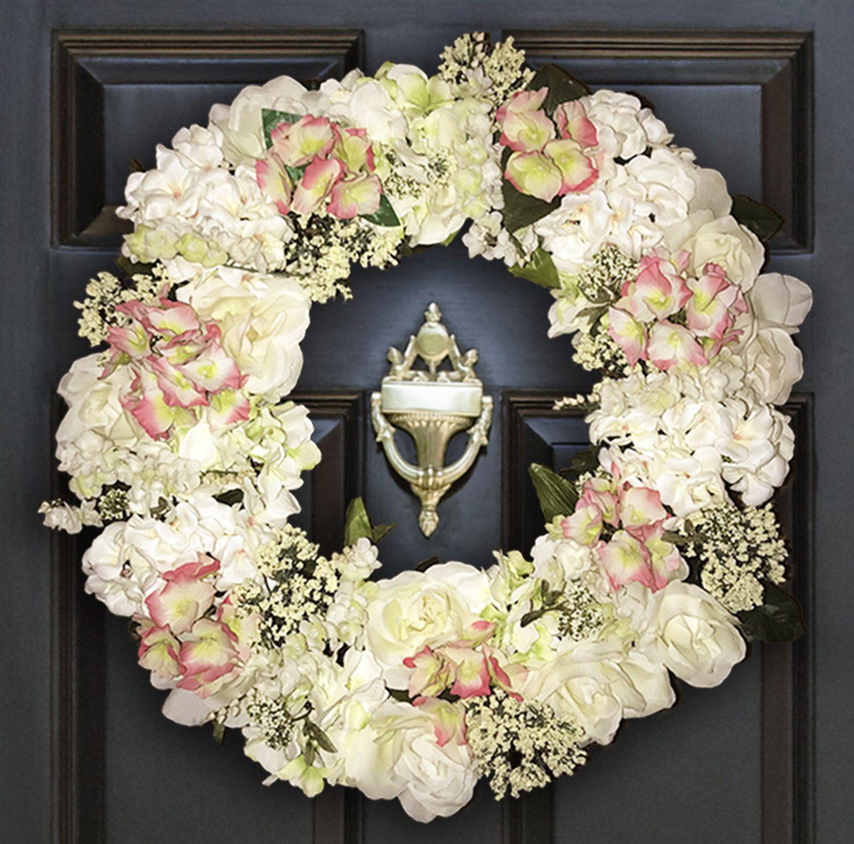 Beautiful Wreaths | Cream Wreaths | Home Wreaths | Front Door Wreath |  Floral Wreaths |